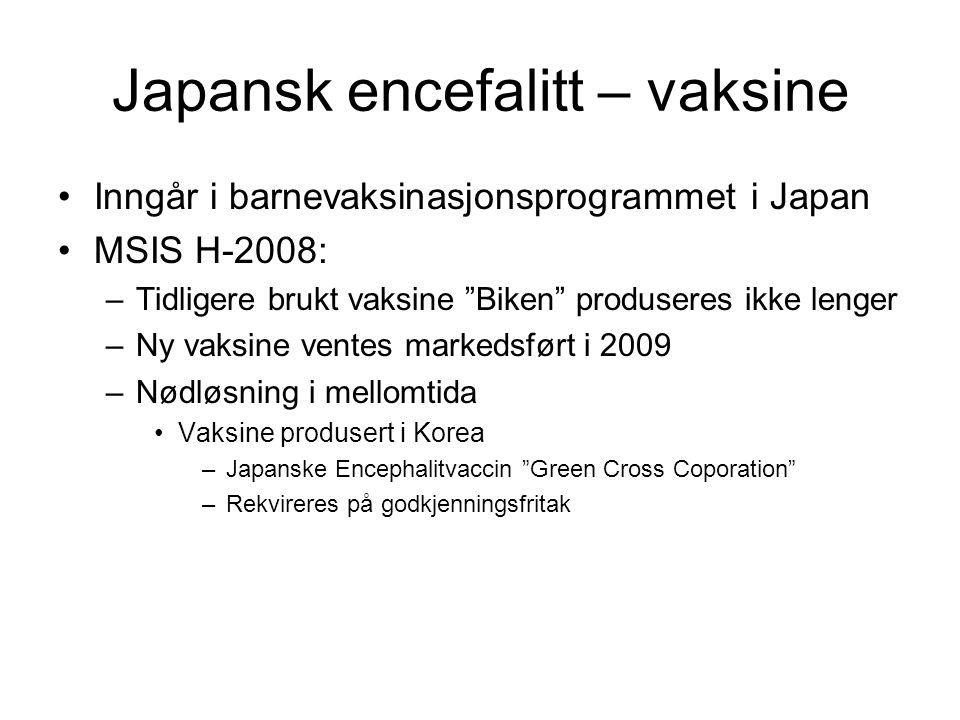 Japansk encefalitt – vaksine