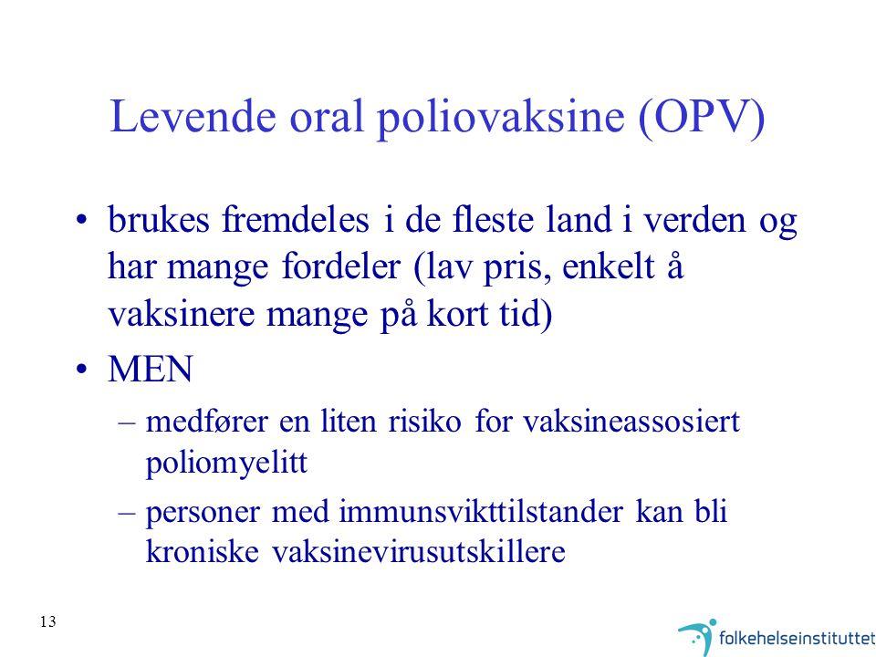 Levende oral poliovaksine (OPV)