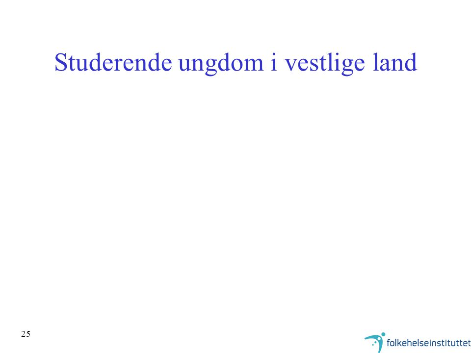 Studerende ungdom i vestlige land