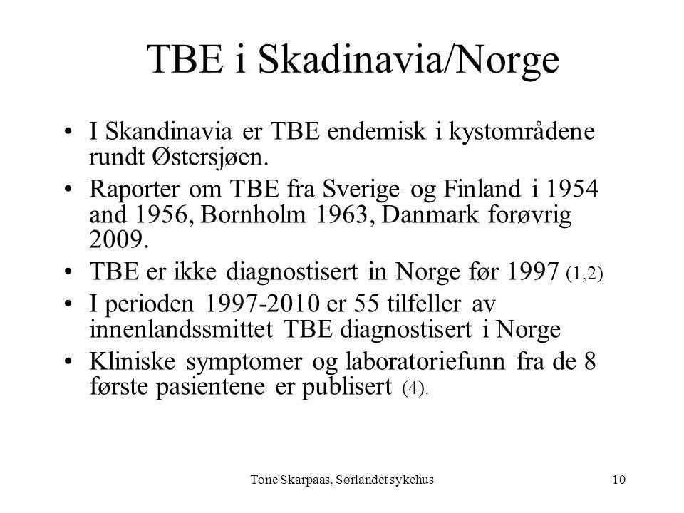 TBE i Skadinavia/Norge