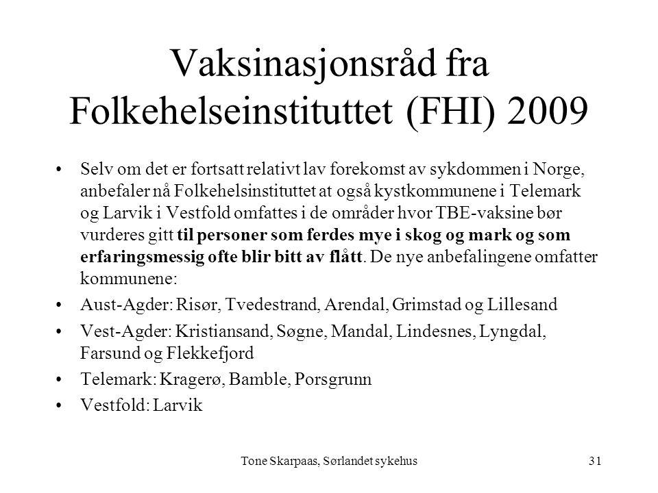 Vaksinasjonsråd fra Folkehelseinstituttet (FHI) 2009