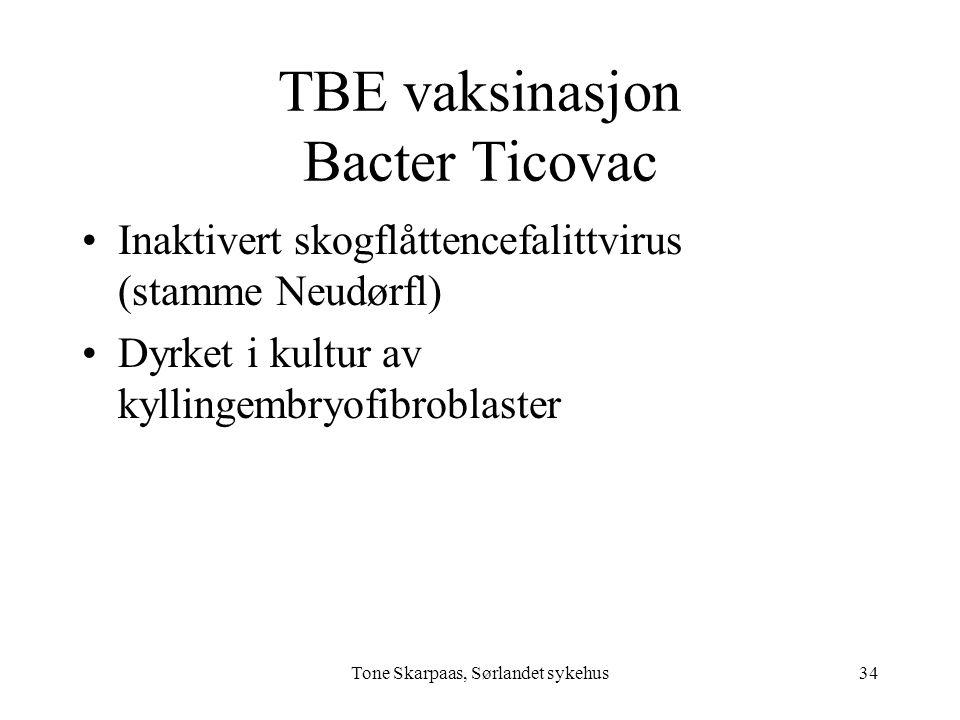TBE vaksinasjon Bacter Ticovac