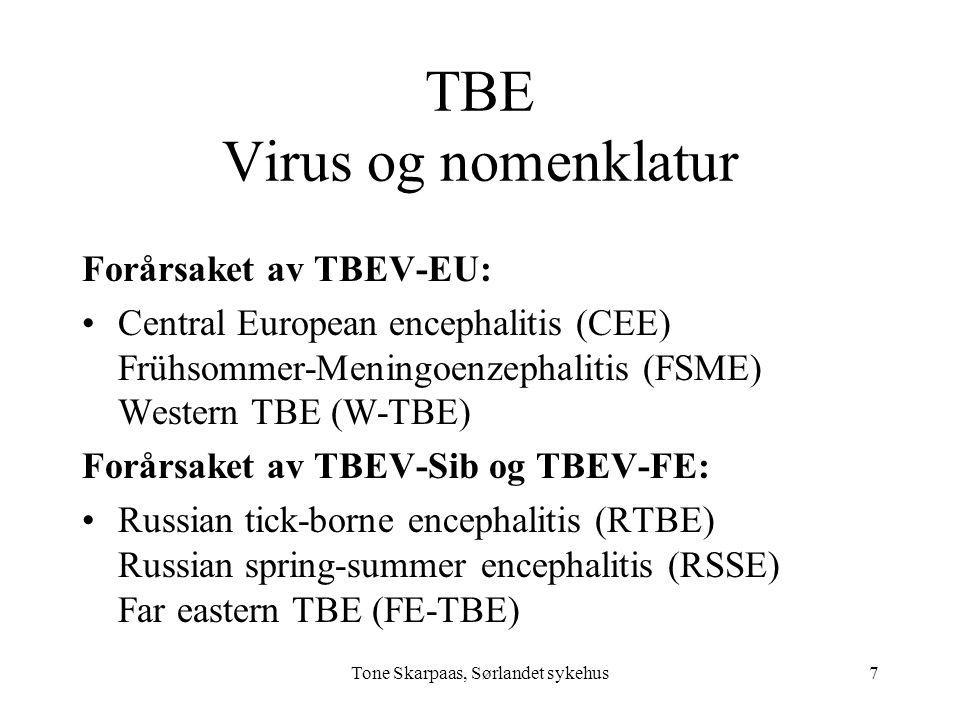 TBE Virus og nomenklatur