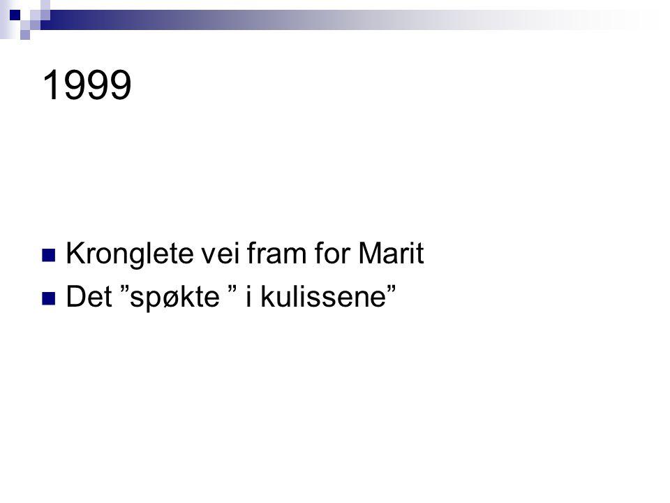1999 Kronglete vei fram for Marit Det spøkte i kulissene