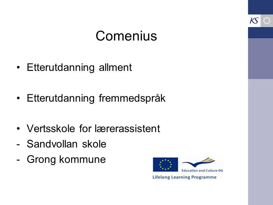 Comenius Etterutdanning allment Etterutdanning fremmedspråk