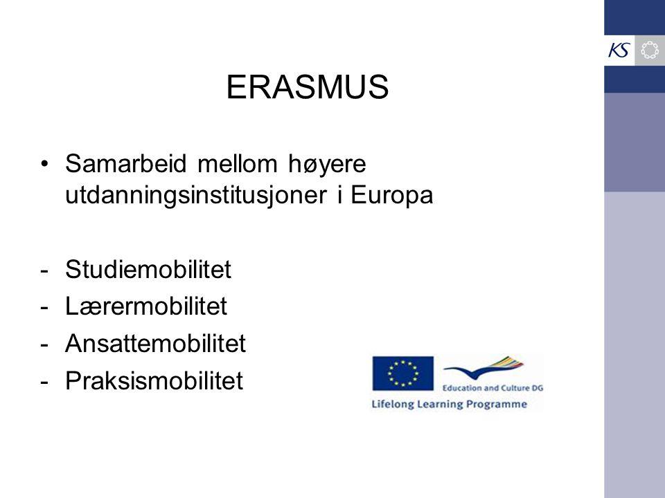 ERASMUS Samarbeid mellom høyere utdanningsinstitusjoner i Europa
