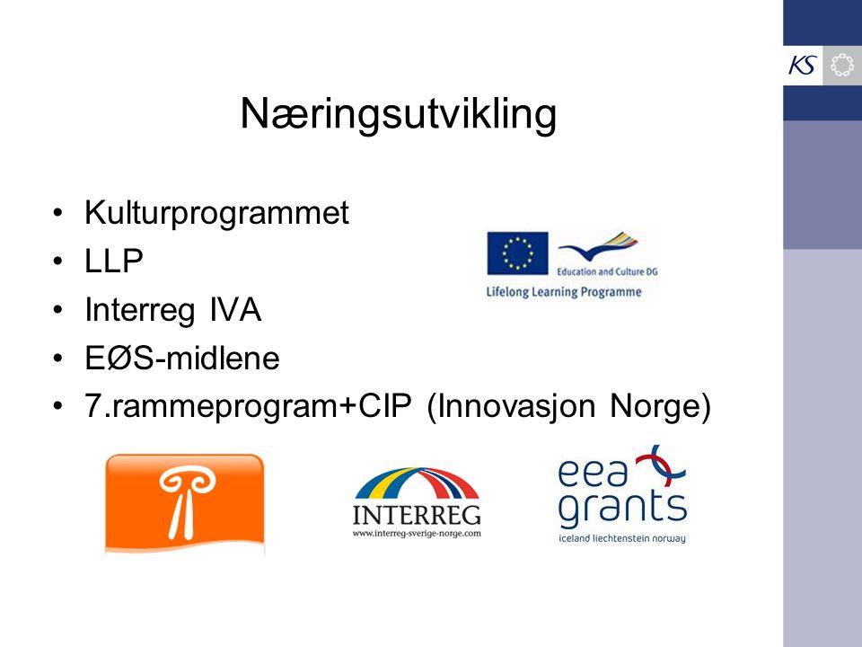Næringsutvikling Kulturprogrammet LLP Interreg IVA EØS-midlene
