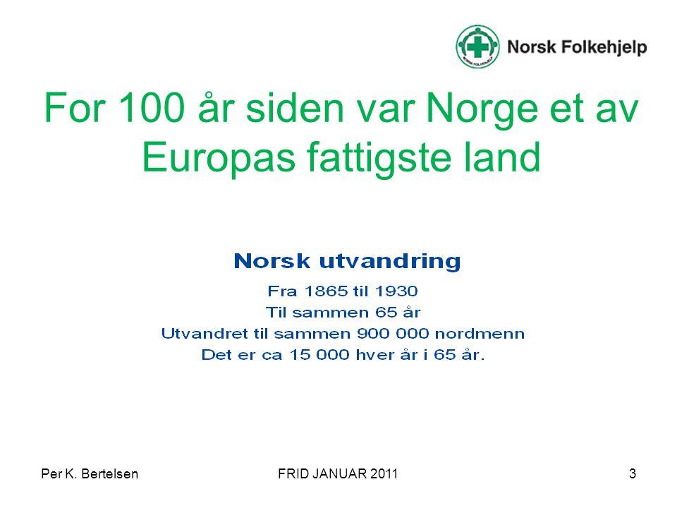 For 100 år siden var Norge et av Europas fattigste land