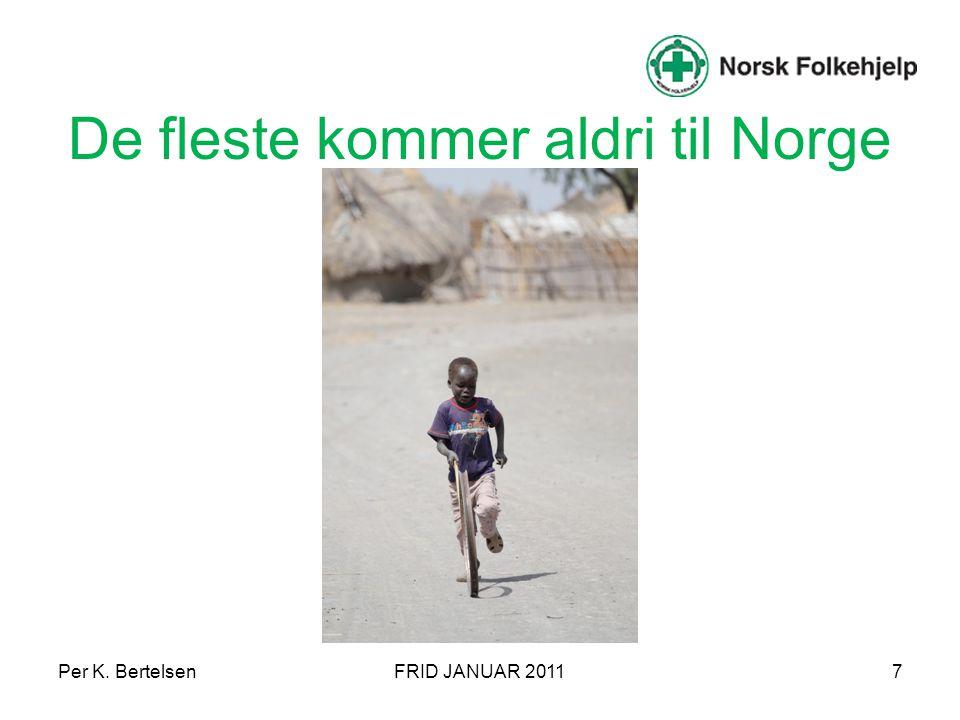 De fleste kommer aldri til Norge