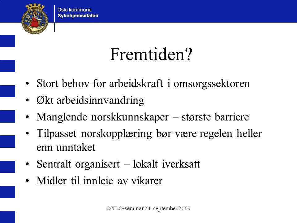 OXLO-seminar 24. september 2009