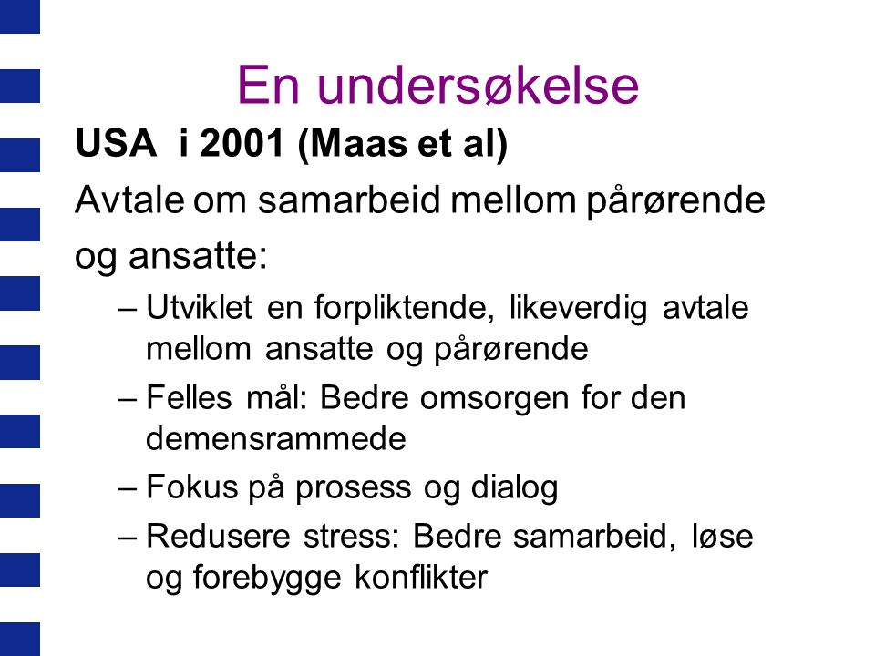 En undersøkelse USA i 2001 (Maas et al)