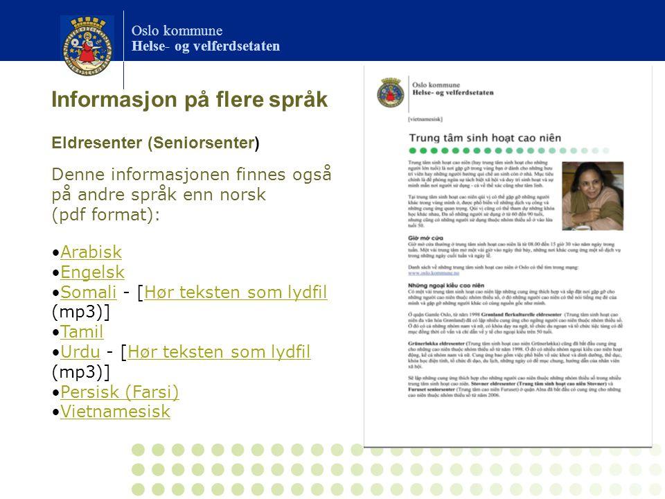 Informasjon på flere språk