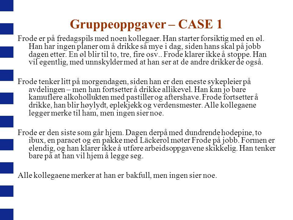 Gruppeoppgaver – CASE 1