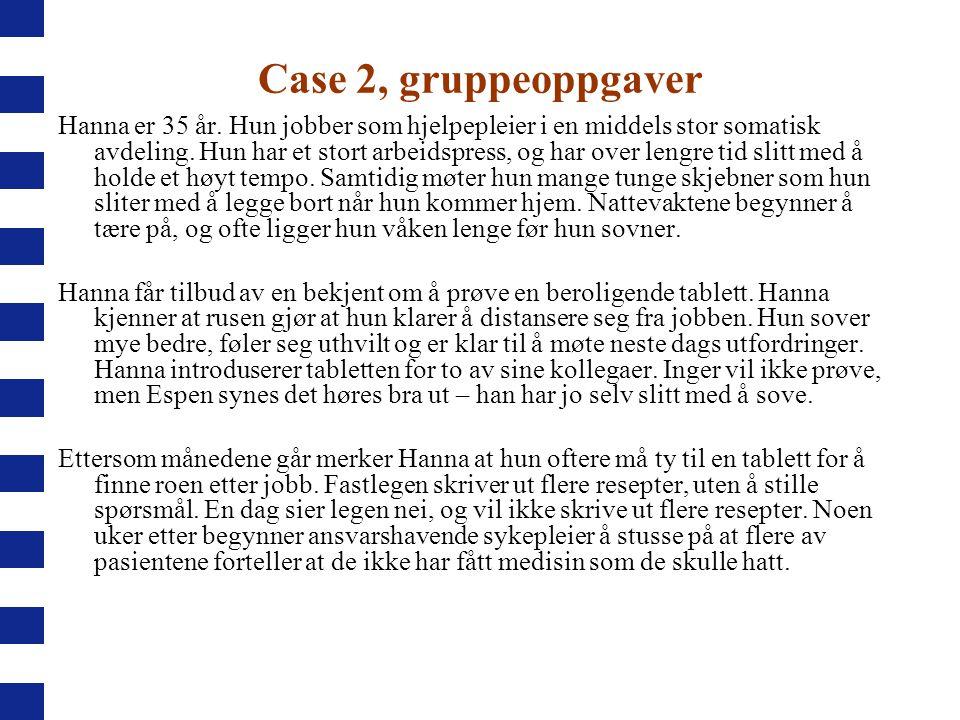 Case 2, gruppeoppgaver