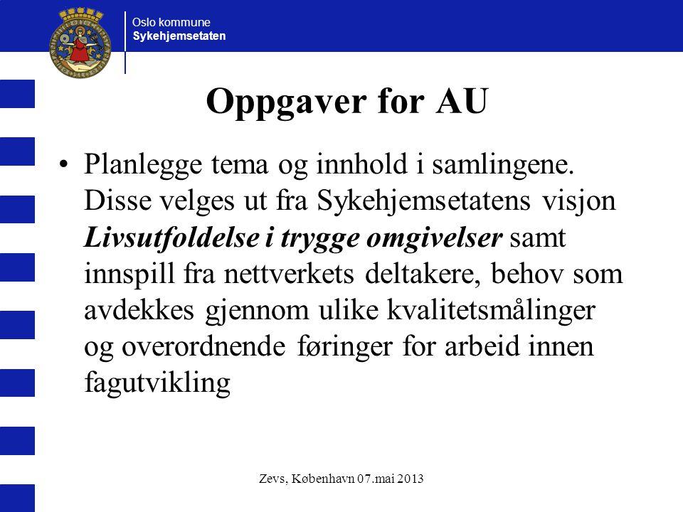 Oppgaver for AU