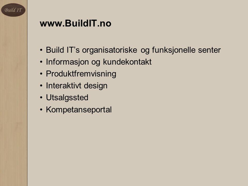 www.BuildIT.no Build IT's organisatoriske og funksjonelle senter. Informasjon og kundekontakt. Produktfremvisning.