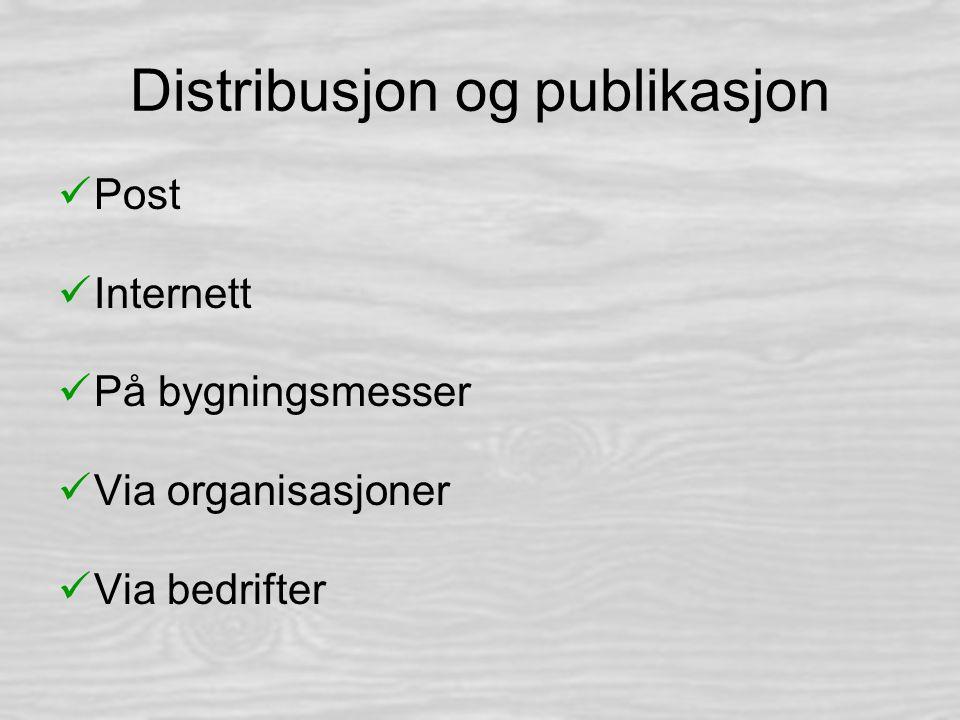 Distribusjon og publikasjon