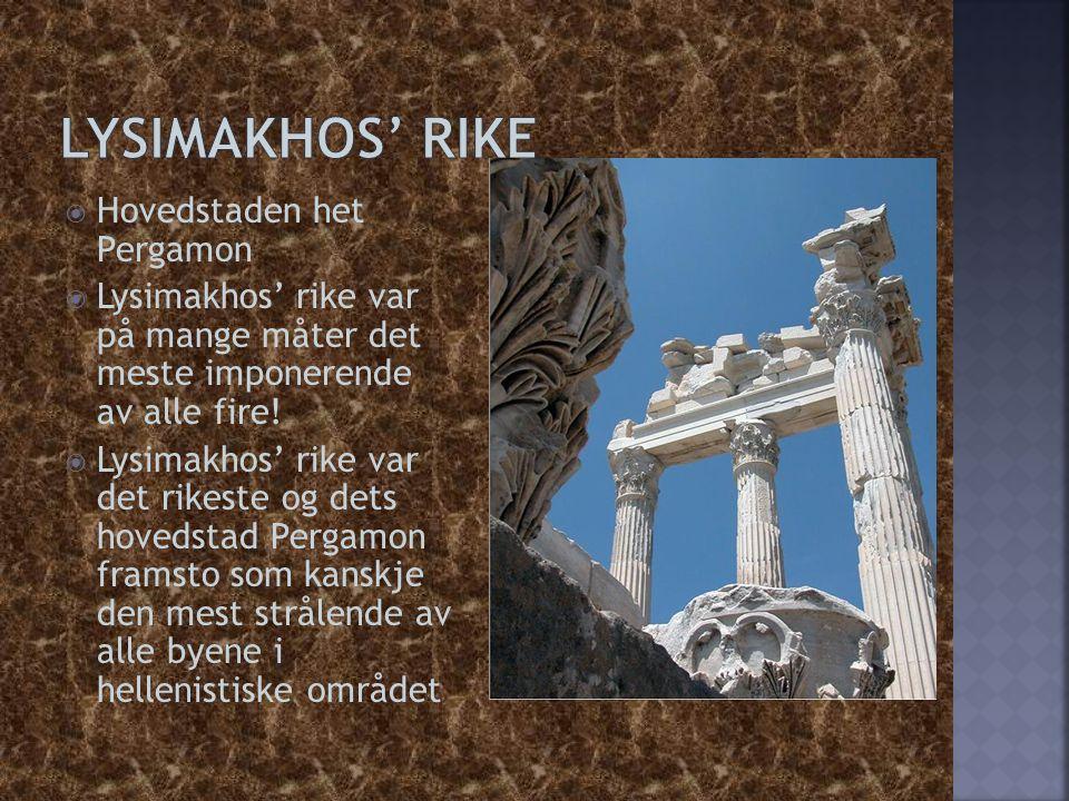 Lysimakhos' rike Hovedstaden het Pergamon