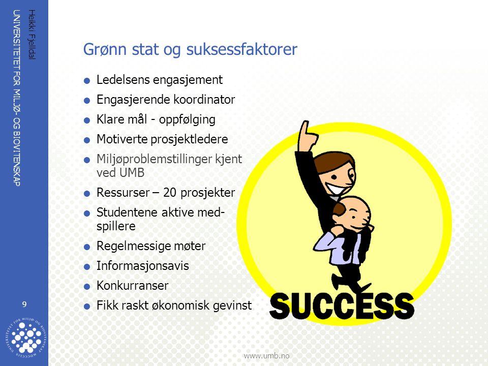 Grønn stat og suksessfaktorer