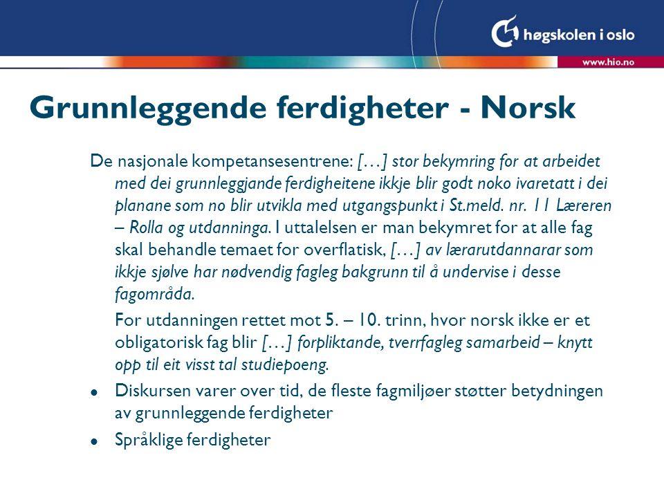 Grunnleggende ferdigheter - Norsk