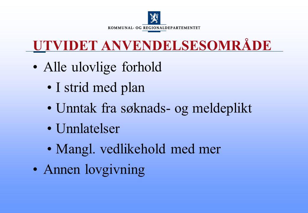 UTVIDET ANVENDELSESOMRÅDE