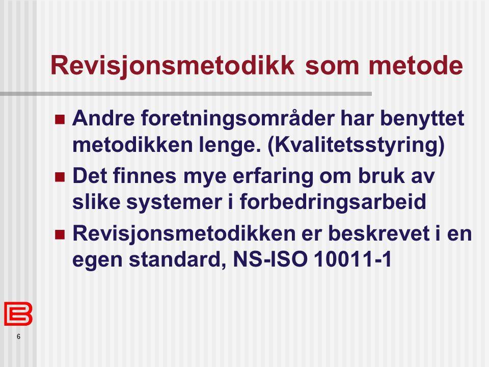 Revisjonsmetodikk som metode