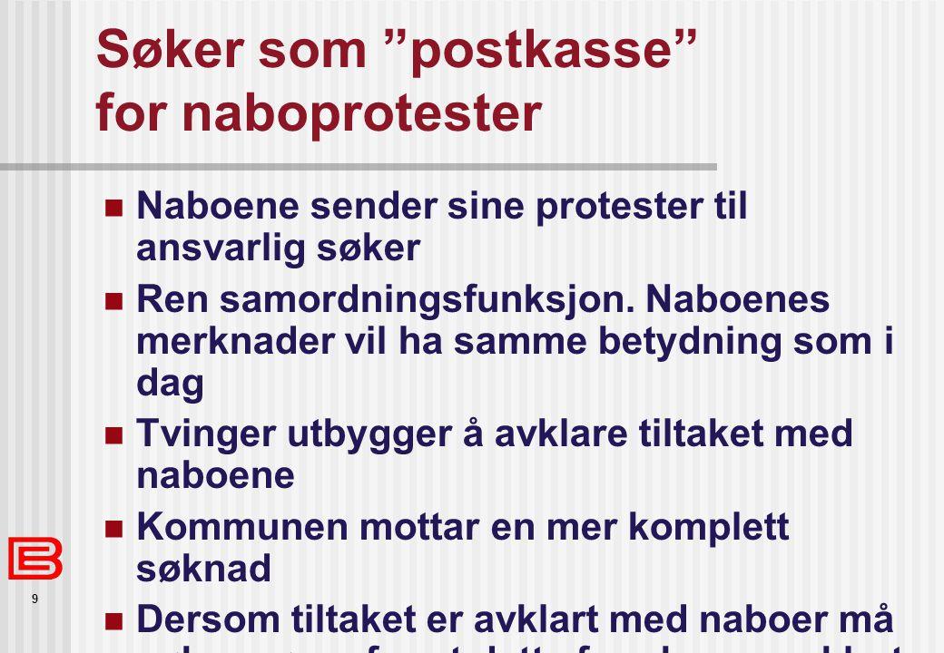 Søker som postkasse for naboprotester