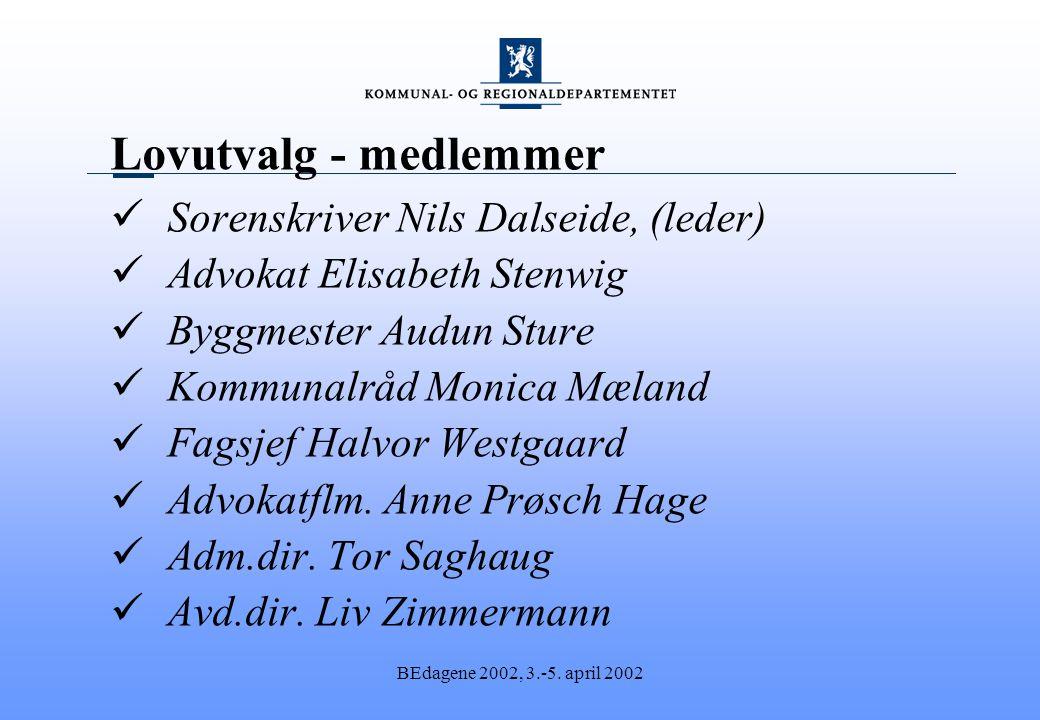 Lovutvalg - medlemmer Sorenskriver Nils Dalseide, (leder)