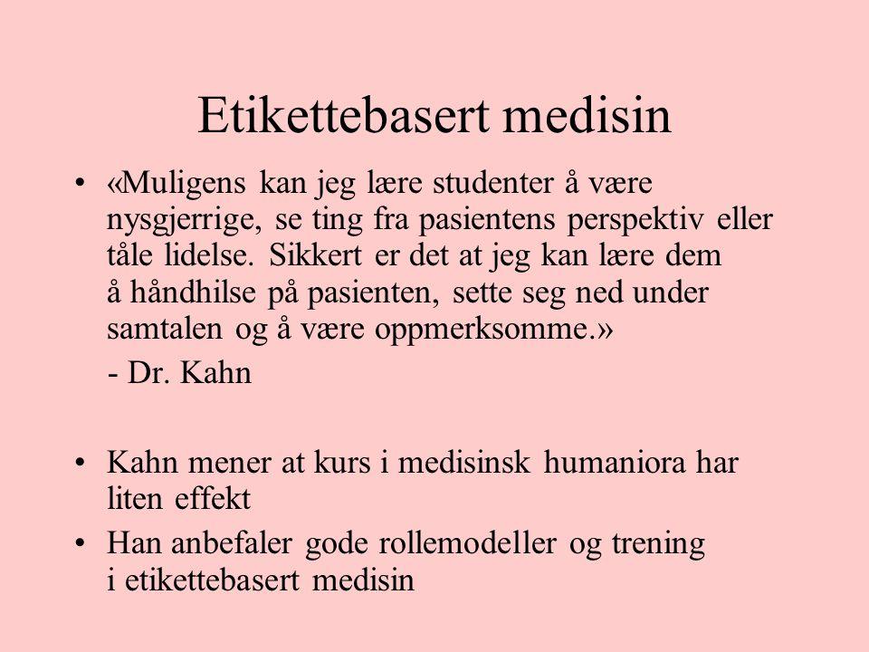 Etikettebasert medisin