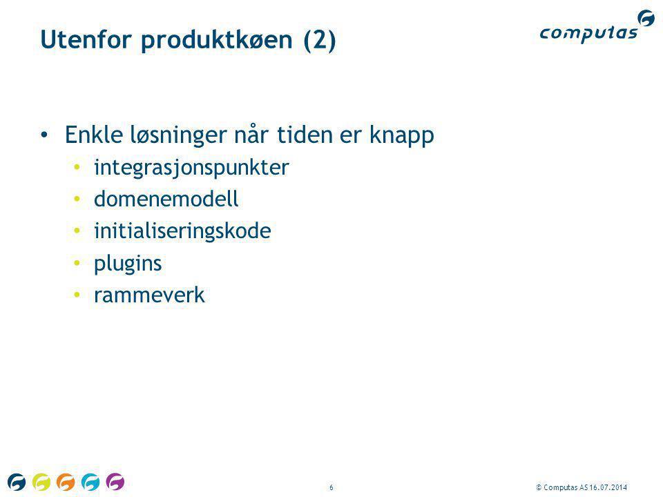 Utenfor produktkøen (2)