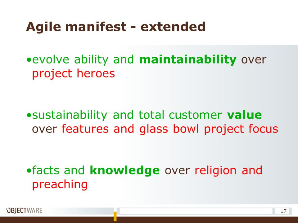 Agile manifest - extended