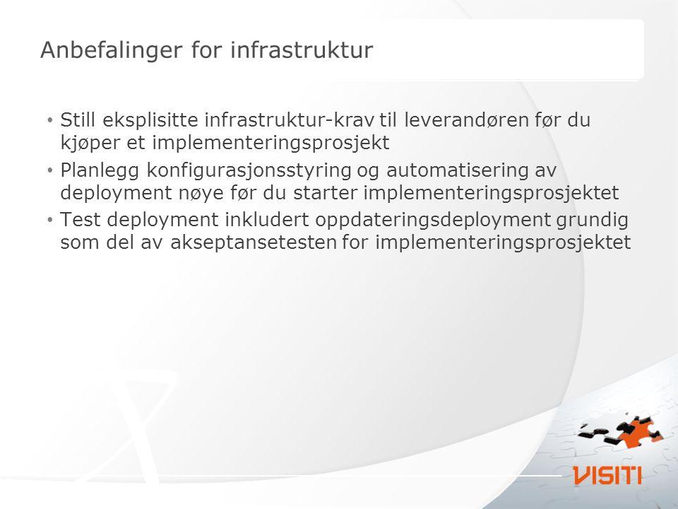 Anbefalinger for infrastruktur