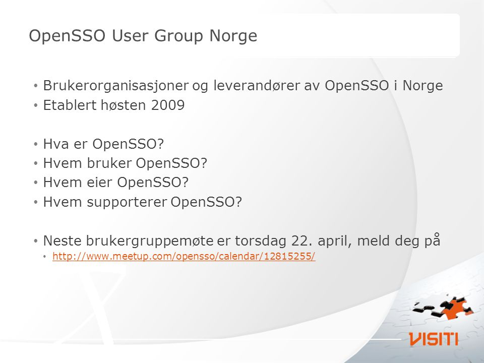 OpenSSO User Group Norge