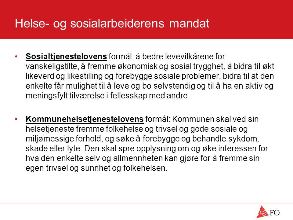 Helse- og sosialarbeiderens mandat