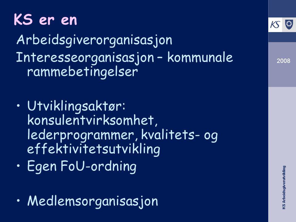 KS er en Arbeidsgiverorganisasjon