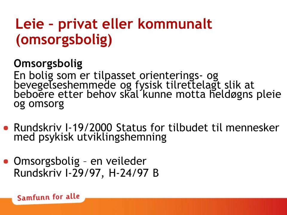 Leie – privat eller kommunalt (omsorgsbolig)