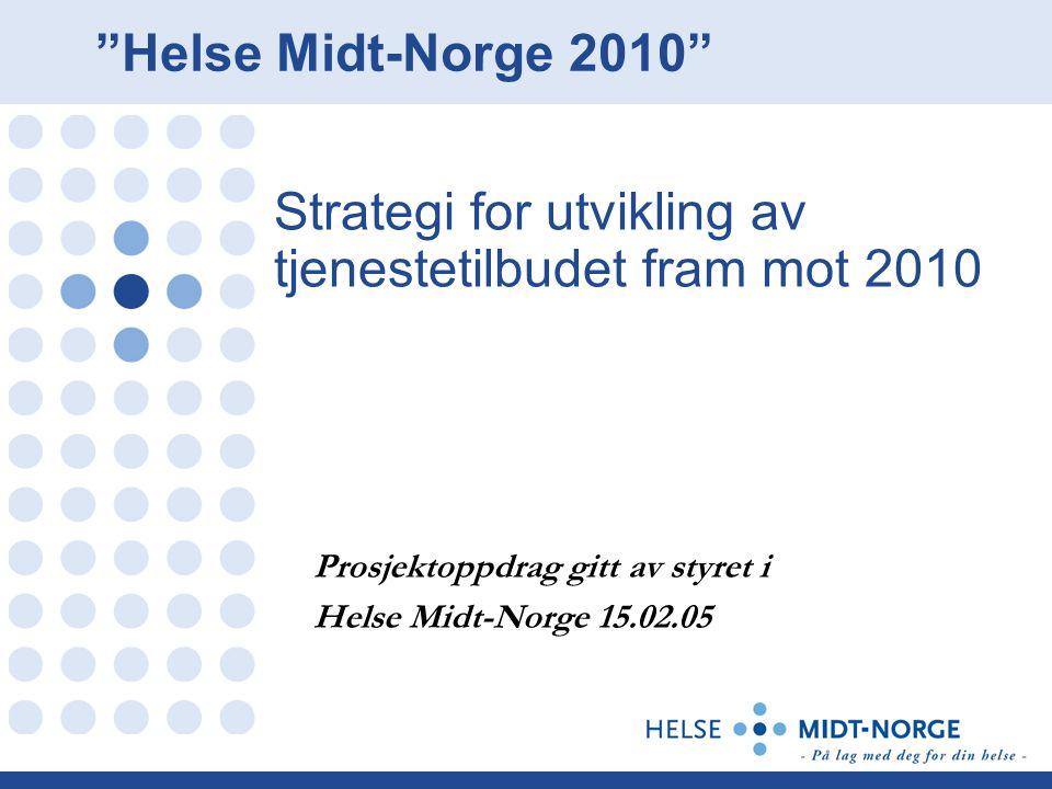 Strategi for utvikling av tjenestetilbudet fram mot 2010