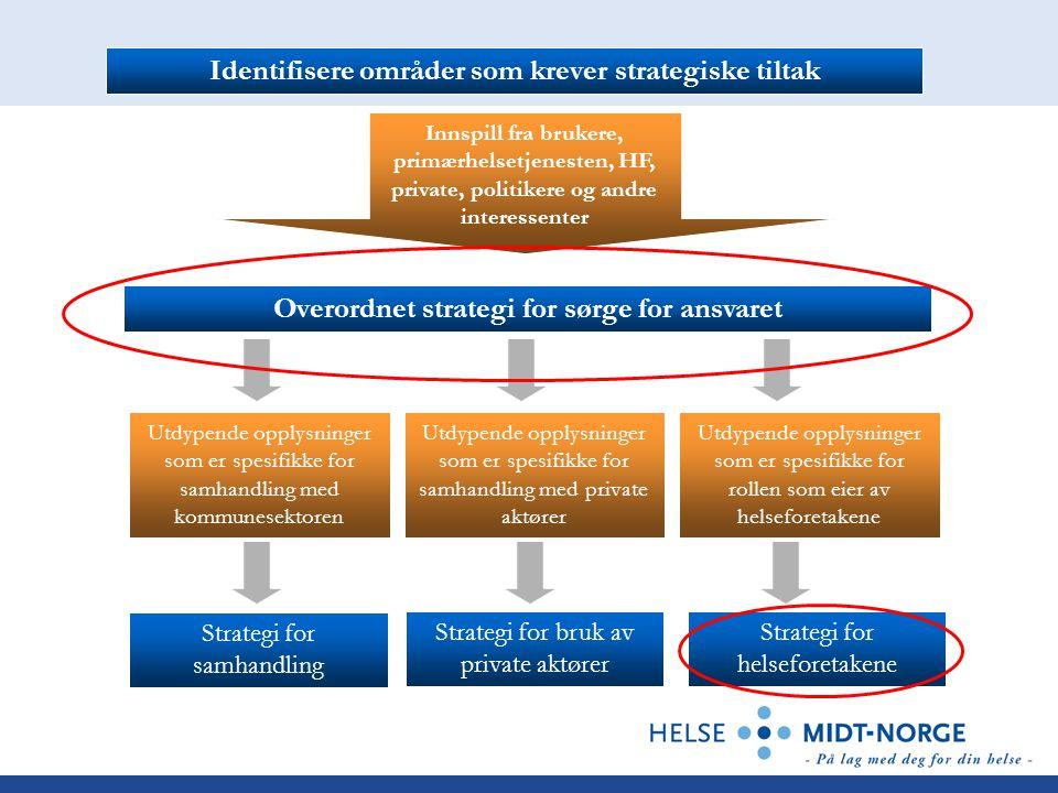 Identifisere områder som krever strategiske tiltak