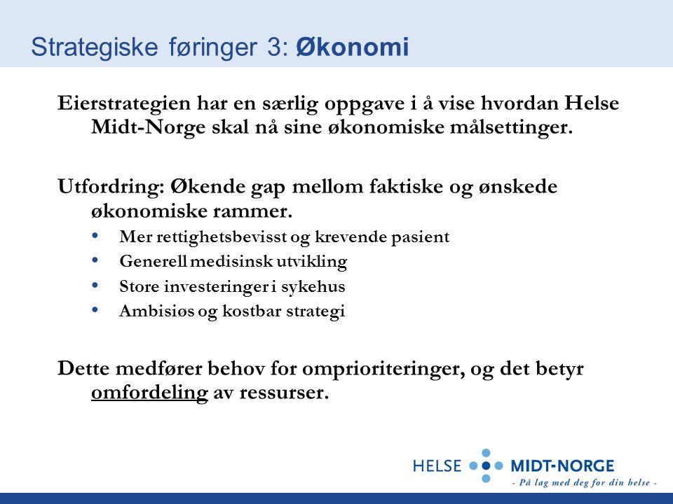 Strategiske føringer 3: Økonomi