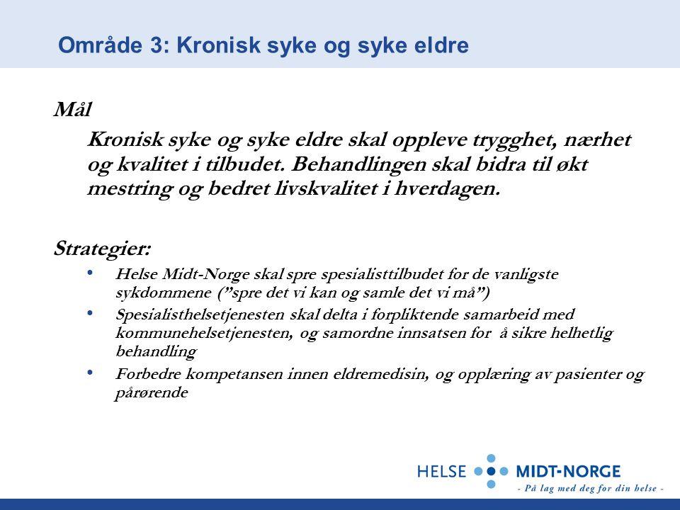 Område 3: Kronisk syke og syke eldre