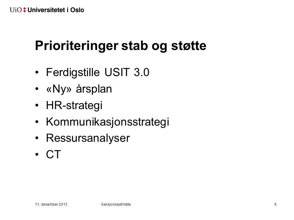 Prioriteringer - SUN 1) Leveranser i henhold til oppdrag med riktig kvalitet. 2) God arbeidsplass.