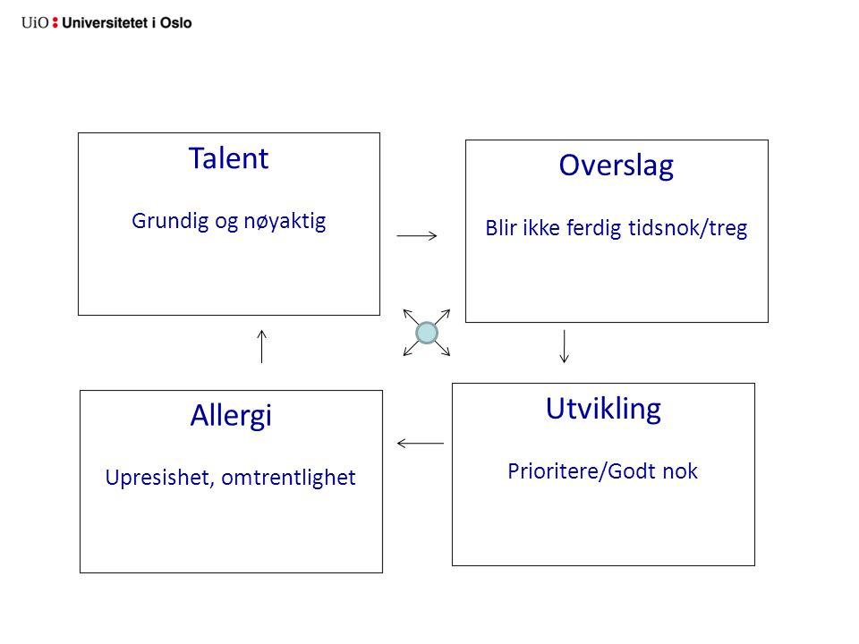 Talent Overslag Utvikling Allergi Grundig og nøyaktig