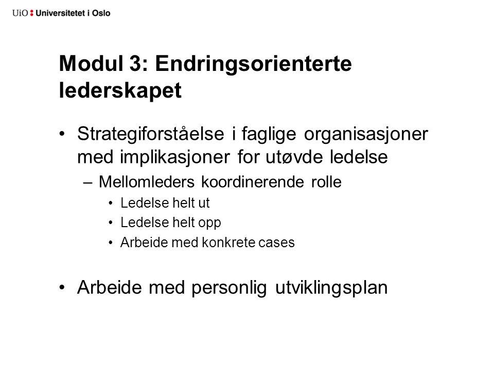 Modul 3: Endringsorienterte lederskapet