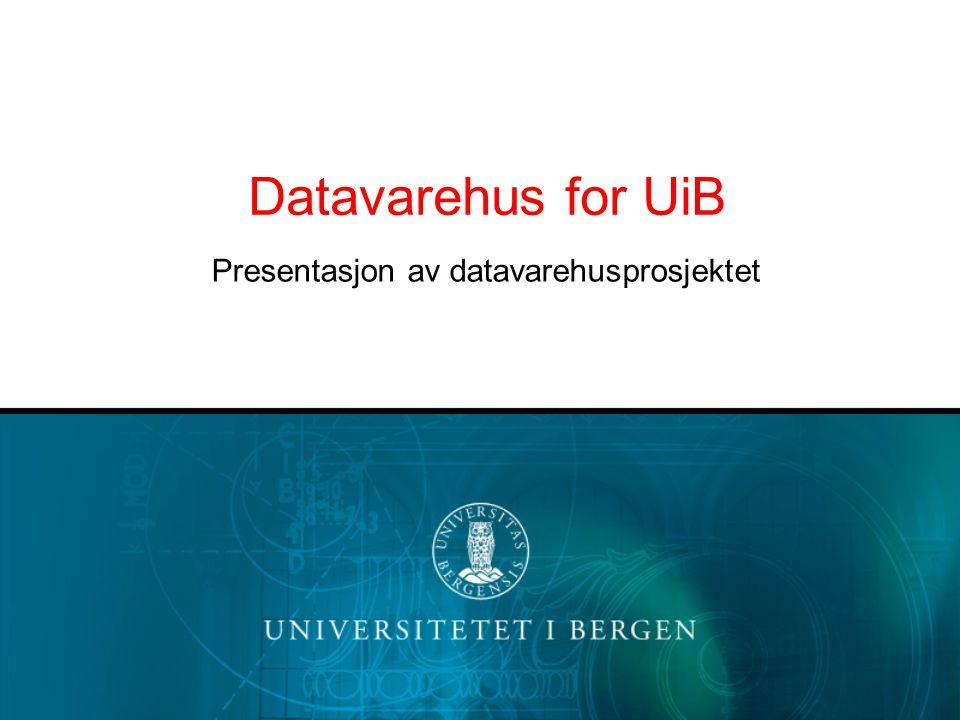 Presentasjon av datavarehusprosjektet