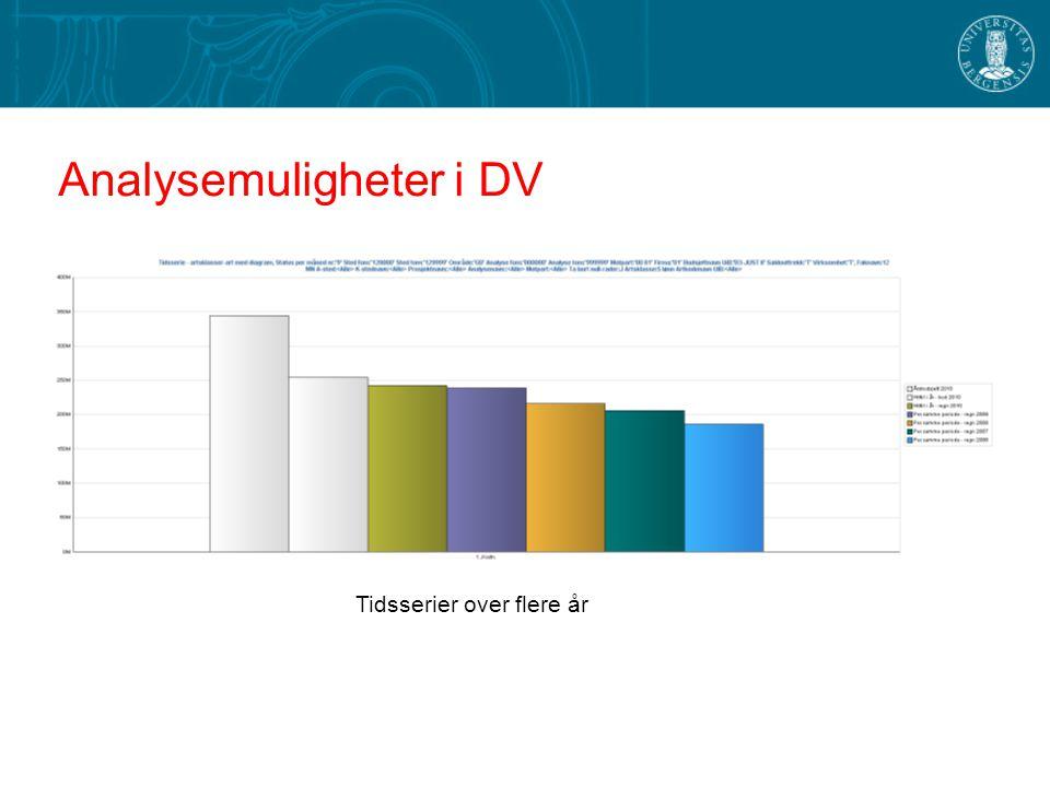 Analysemuligheter i DV