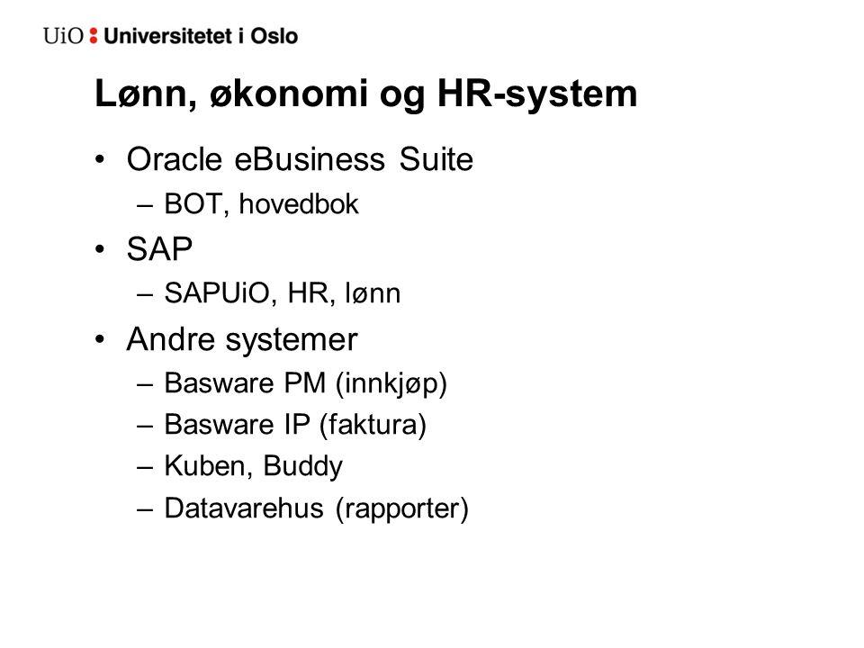 Lønn, økonomi og HR-system