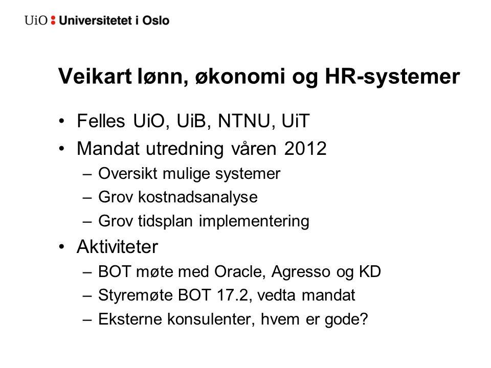Veikart lønn, økonomi og HR-systemer