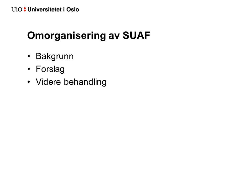 Omorganisering av SUAF