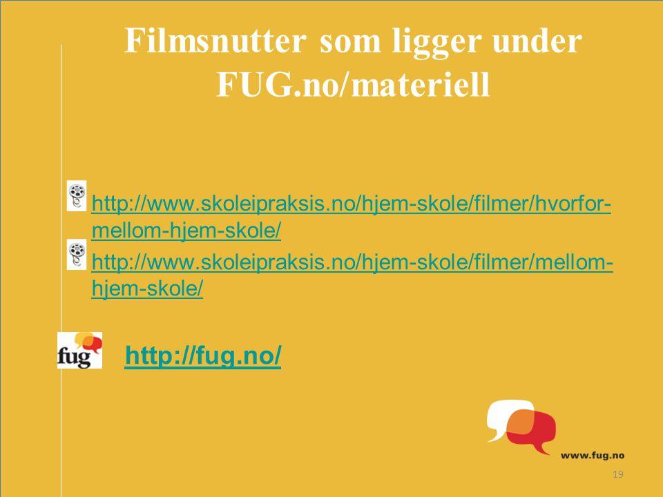 Filmsnutter som ligger under FUG.no/materiell