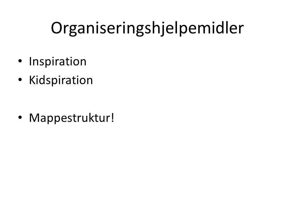 Organiseringshjelpemidler